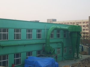 Qingdao Liang wood Paulownia Industry Co., Ltd. cyclone, installation instance